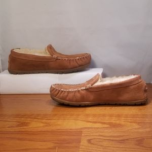 Men's LL Bean Shearling Slippers Moccasin Size 10